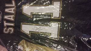 Jordan Staal signed twice Penguins nhl hockey jersey