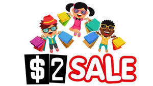 $2.00 SALES EVENT - ALL CHILDREN'S CLOTHING NB TO SIZE 8