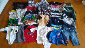 39 items boys fall/winter lot size 3-6 months
