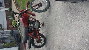 84 honda xl dirt bike RUNNING
