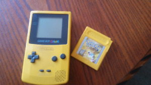 Game Boy Color and Pokemon Special Pikachu Edition game