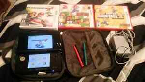 3ds with 3 games and charger and case