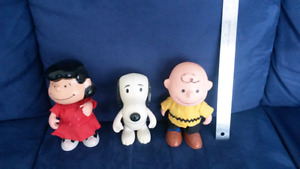 Charlie Brown, Lucy, and Snoopy Dolls