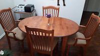 Solid Wood Dining Room Set