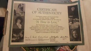 """A Time to Love"" March of Dimes Collectors Plate 1989 Kitchener / Waterloo Kitchener Area image 3"