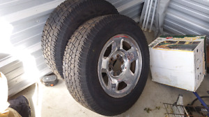 "Lt truck mud and snow tires 17"". With Ford rims"