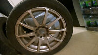 MAGS 5-100mm with SUMMER Tires YOKOHAMA 225/45/R17 -JANTES