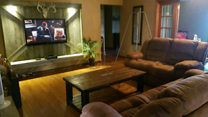 Rustic/barn style Entertainment wall unit