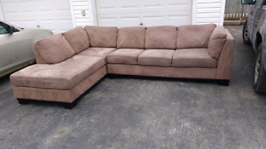 Oakdale Microsuede Sectional FREE DELIVERY