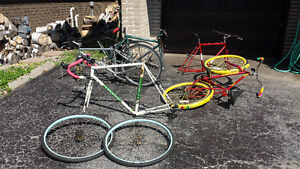 Bike, frames and parts