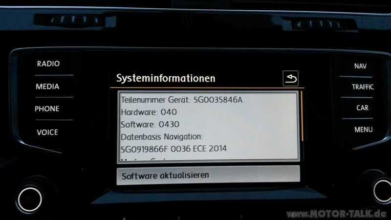 vw golf discover pro firmware update