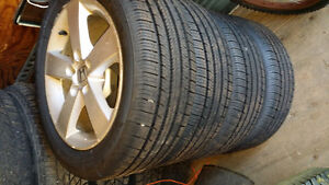 Honda alloy wheels and tires