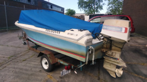 Evinrude motor and trailer for sale