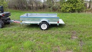 galvanized 4 foot x 7 foot trailer
