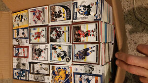 Hockey cards Huge lot around 6500 cards mixed years and brands