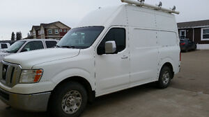 2012 Nissan NV 3500 HD Commercial Cargo Van with High Roof