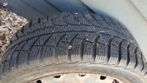 4 Used Winter Tires on Rims - P205/55R16