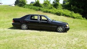 Mercedes S500.W140.S-class.  THE LAST REAL BENZ  blk on blk