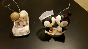 Just married Christmas ornaments