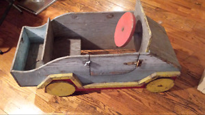 Antique wood pedal car - Post WWII