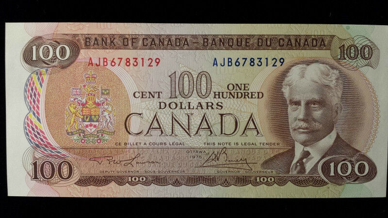 1975 One Hundred Dollar Bills Bank Notes Currency Paper