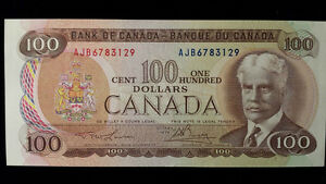 1975 One Hundred Dollar Bills/Bank notes currency paper money