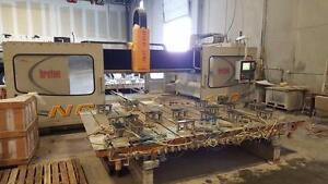 Breton NC 400 dual table granite, marble counter top CNC machine