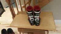 Black, White, and Red Dalbello CX Sports Ski Boots