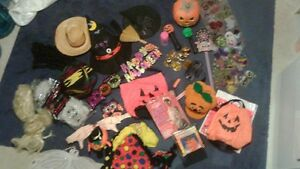 HALLOWEEN costumes,hats and decorations includes gypsy kids cos
