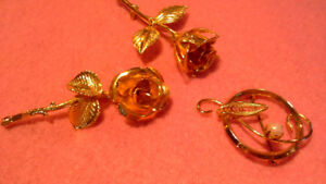 costume jewelry. pins & brooches, 5 sets, $5 each set
