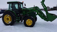 John Deere 6140D Front wheel assist Tractor with Loader/grapple