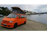 VW T4 Camper, Campervan. Reduced to £7995. 2 previous owners, low miles, HPI clear, elevating roof.