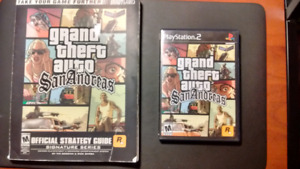 Grand Theft Auto San Andreas (PS2) Complete with Strategy Guide