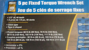 For sale Brand-New 5 piece fixed torque wrench set