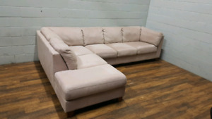 Free delivery: Large Microfibre Sectional