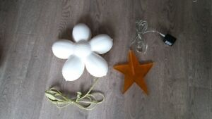 yellow Star & White Flower lights from IKEA