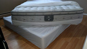 Brand new Queen size Serta bed with box spring