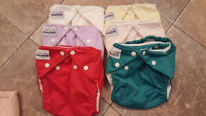 large amount of cloth diapers for sale