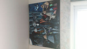 Nightmare painting on 16 x20inch canvas