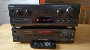 TECHNICS Receiver + CD player,super condition. Awesome sound.