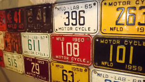 WANTED-Newfoundland Motorcycle Licence plates