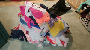 Baby girl pile of clothes