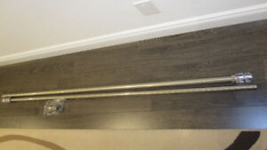 Curtain rod set, steel including steel and glass finials