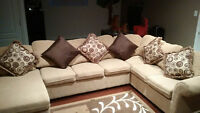 Sofa Sectionnel, Sectional Sofa avec tapis