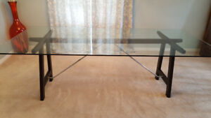 Glass table - 90x40- great condition.