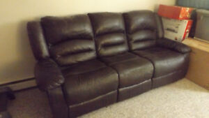 Free Faux-Leather Couch Available