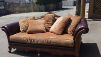 2 seat and 3 seat fabric couch