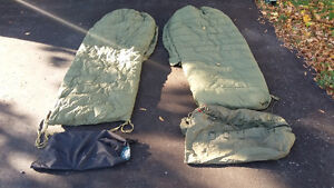 2 CANADIAN ARMY DOWN FILLED SLEEPING BAGS
