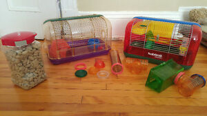 Moving Sale - 2 Hamster Cages - lots of accessories