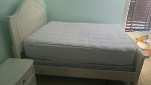 bed frame plus matress for sale must go asap